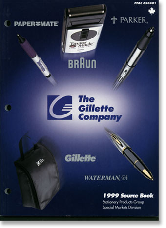 Business Writing Sample | <b>Gillette Co. product catalog</b> | by ...